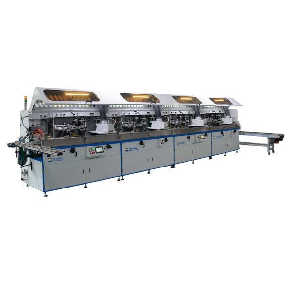 LP-F102-M Fully Automatic Universal Screen Printing Machine For The Decoration Of Cylindrical, Oval and Flat Plastic Containers Featured Image
