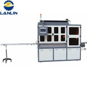 Auto screen printing machine for all shapes without register hole