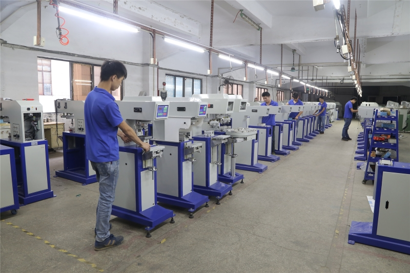 Pad printing machine line