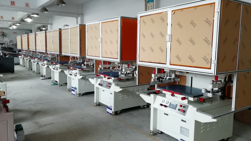 Screen printing machine line