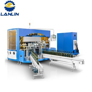 A412 Fully Automatic CNC Controlled 4 Color Universal Screen Printing Machine For Decoration Of Cylindrical And Oval Glass Containers