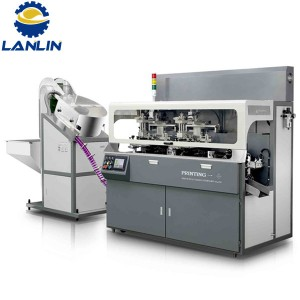 A107 Fully Automatic Rantai-Type multicolor Mesin Screen Printing