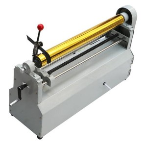 Electric Hot zọ Foil Aluminium Foil Roll Slitter Cutting Machine